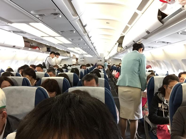 大韓航空 機内