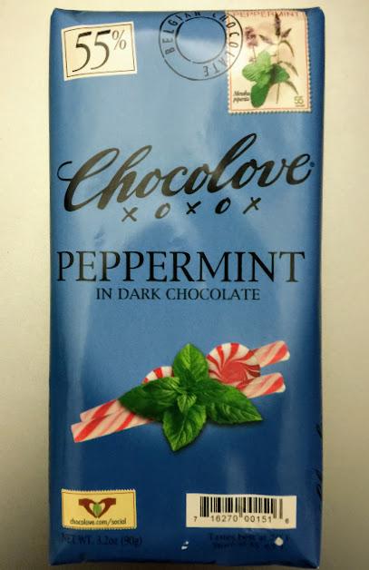 55% peppermint chocolove bar