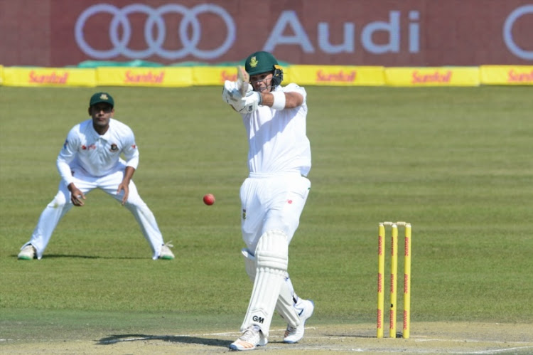Aiden Markram of the Proteas during day 1 of the 2nd Sunfoil Test match between South Africa and Bangladesh at Mangaung Oval on October 06, 2017 in Bloemfontein.