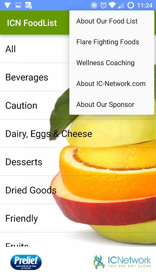 Ic Friendly Food List