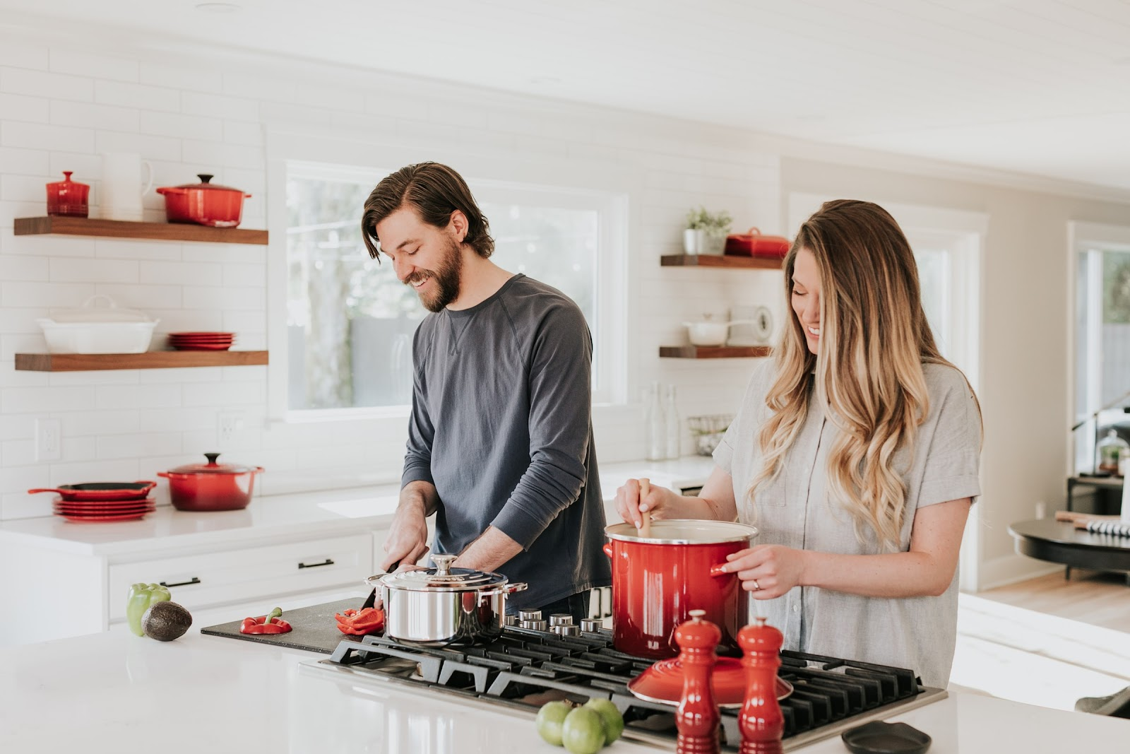 Cooking Together in an Open-Plan Kitchen