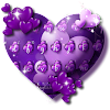 Purple Heart Balloon Keyboard