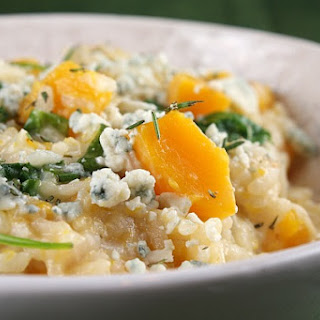 Butternut Squash, Rosemary and Blue Cheese Risotto.