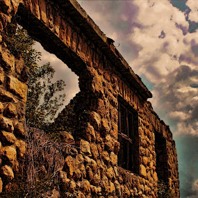 clouds above by Miroslav Bičanić - Buildings & Architecture Decaying & Abandoned ( sky, cloudy, clouds, abandoned, house, ruined, stone )