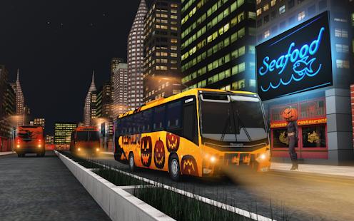 Real Halloween Bus Simulator 18: Night Racing Game - náhled
