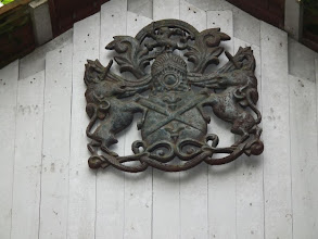 Photo: Coat of arms of the Raja of Sivaganga - past owners of the resort property
