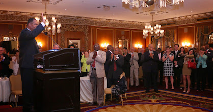 Photo: Following Chief Justice Ireland's speech, the room joined in a unanimous standing ovation.