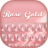 Rose Gold Silk Keyboard Theme