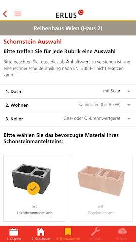 android ERLUS Profi-App Schornstein Screenshot 3