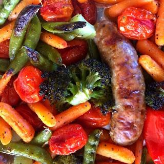 4-Ingredient Vegetable Tray Sausage Sheet Pan Dinner Recipe