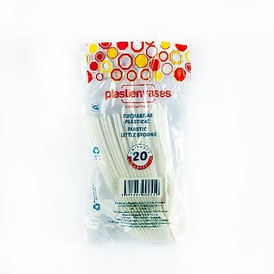 Cucharita Plastica Blanca 20und Plastienvases