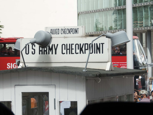 checkpoint-charlie.jpg - Now a tourist attraction, Checkpoint Charlie was the best-known Berlin Wall crossing point between East Berlin and West Berlin during the Cold War.