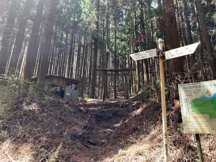 朝島山登山口(立岩神社前)