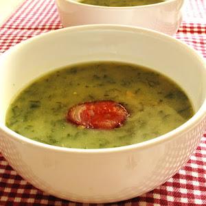 Green Broth with Chorizo 