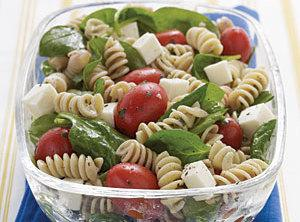 Spinach, Tomato, And Fresh Mozzarella Pasta Salad With Italian Dressing Recipe