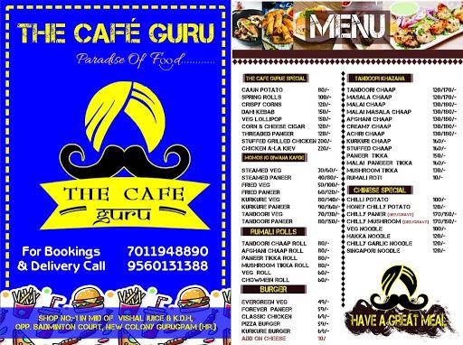 The Cafe Guru menu 1