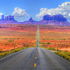 Into the Great Wide Open by Stephen Botel - Landscapes Travel ( clouds, mountains, hdr, highway, landscape )