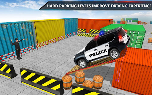 Police Jeep Spooky Stunt Parking 3D 2 apkpoly screenshots 4