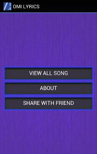 OMI Song Lyrics