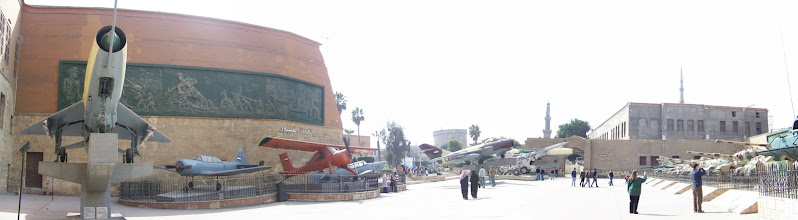 Photo: Panorama shot of the area behind the military museum.
