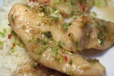 Lime Sauced Fish With Cucumbers