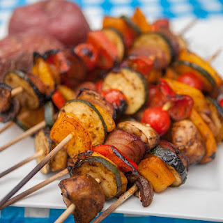 BBQ Veggie Skewer Kebabs.