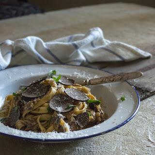 Fettuccine with Portobello, Porcini & Black Truffle Recipe