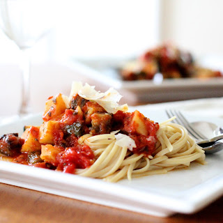 Fettuccine with Roasted Potato and Vegetable Marinara