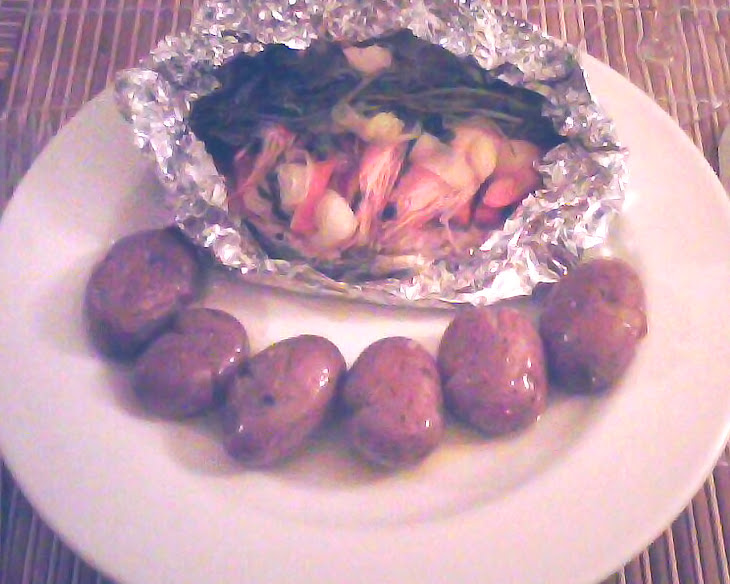Oven Baked Salmon with Vegetables Recipe