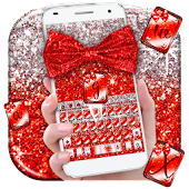 Red Glitter Bow Theme