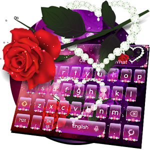 Diamond Rose Keyboard Theme