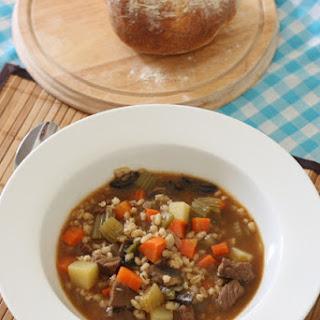 Beef, Barley & Mushroom Soup