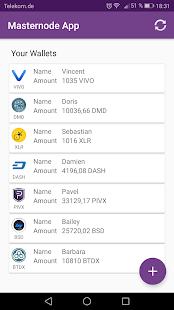 Masternode App - náhled