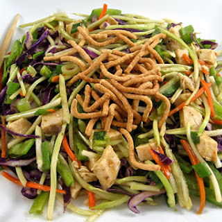 Skinnylightful Asian Chicken Broccoli Slaw Salad