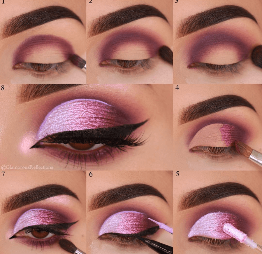 Smokey Pink Eyeshadow Look