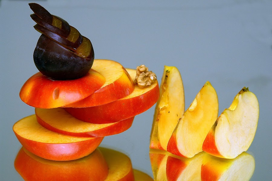 the apple and plum by Sorin Lazar Photography - Food & Drink Fruits & Vegetables ( abstract, fruit, tree, apple, pwcfruit )