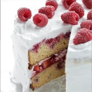 Berry and Coconut Cake.