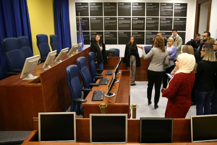 Students are seen at the original court of the UN International Criminal Tribunal for the former Yugoslavia, as a part of their education, in Sarajevo City Hall, Bosnia and Herzegovina December 7 2018. Picture: REUTERS/DADO RUVIC