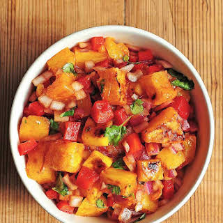 Grilled Pineapple Mango Salsa with Lime, Tequila and Smoked Paprika.
