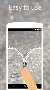 Silver Glitter Zip Locker Beta - wallpaper theme - náhled