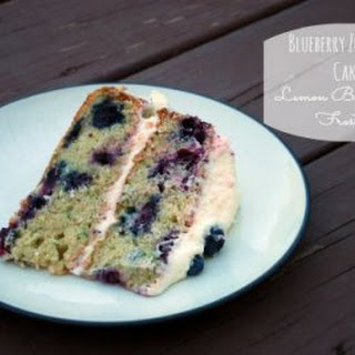 Blueberry Zucchini Cake with Lemon Buttercream