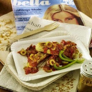 Vegetarische Currywurst mit Paprikasoße