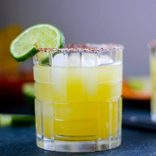 The Perfect Margarita with a Sweet and Smoky Rim.