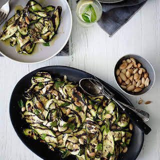 Char-grilled Zucchini With Mint And Almonds.