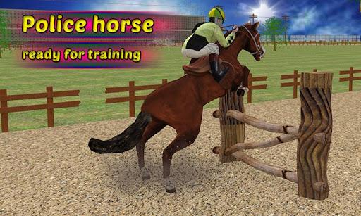 警察の馬のトレーニング