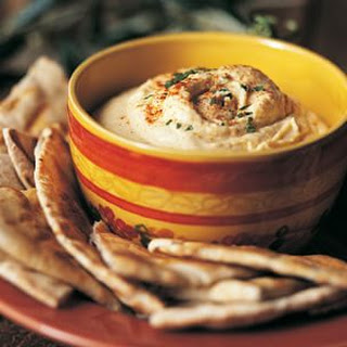 Hummus with Grilled Pita Bread.