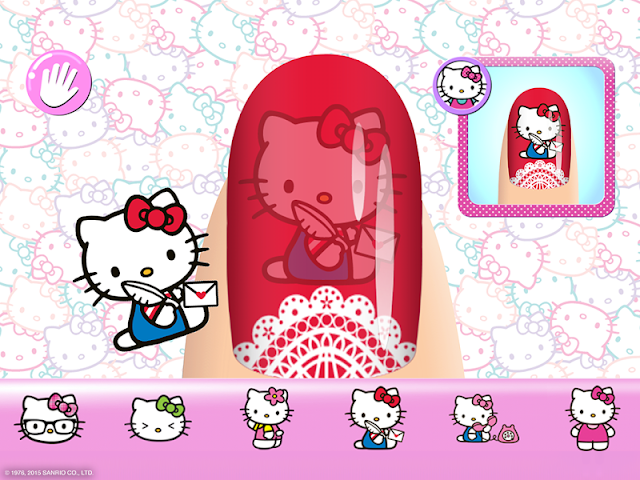 android Salon de manucure Hello Kitty Screenshot 2
