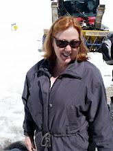 Photo: Karen loving the snow!