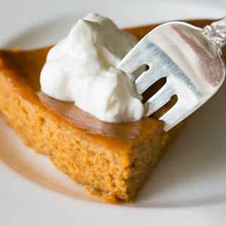 Crustless Pumpkin Pie with Orange Scented Whipped Cream | #SundaySupper