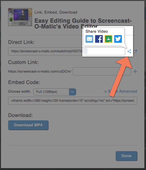screencast-o-matic screen recorder sharing